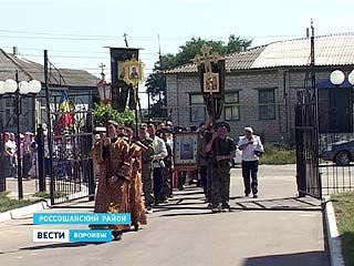 Первый Ильинский казачий крестный ход прибыл в конечную точку своего назначения - город Россошь