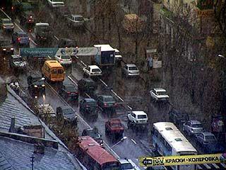 Первый снег спровоцировал пробки на воронежских дорогах