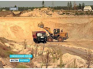 По факту незаконной разработки карьеров в Лискинском районе возбуждено два уголовных дела