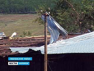 По Воронежской области пронёсся ураган