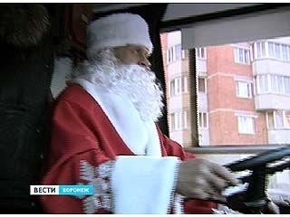 По Воронежу проехал сказочный троллейбус