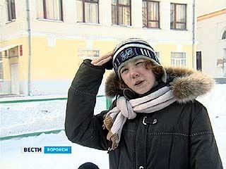 Под удар ледяной глыбы попала одна из учениц Воронежской школы ╧9