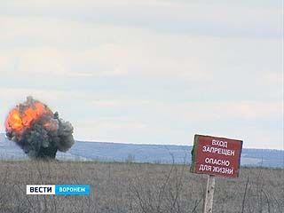 Под Воронежем уничтожили более 30 снарядов времён ВОВ