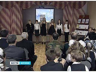 Подгоренские школьники поздравили ветеранов с наступающим 23 февраля