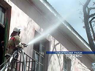 Поворинская пожарная часть провела учения в доме престарелых