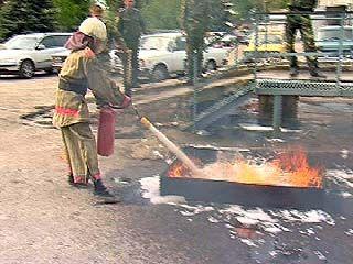 Пожарная часть ╧8 провела соревнования дружин юных пожарных
