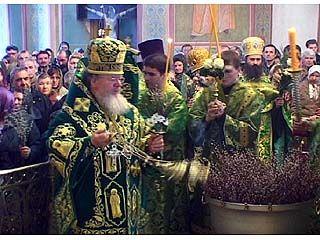 Православные воронежцы отметили вербное воскресенье