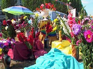 Праздник цветов порадовал воронежцев