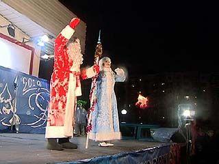 """Праздник возле торгового центра """"Аксиома"""" дал старт новогодним гуляниям"""