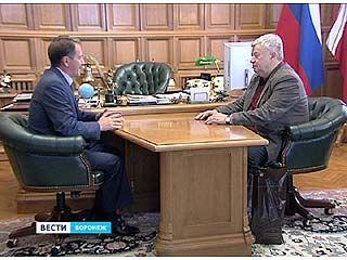 Председатель союза журналистов России встретился с воронежским губернатором