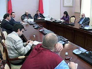 Президент РФС и губернатор встретились с журналистами