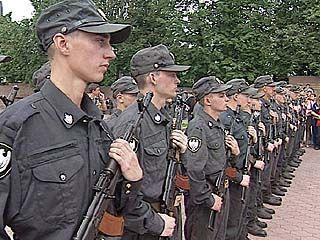 Призывники внутренних войск МВД РФ приняли присягу