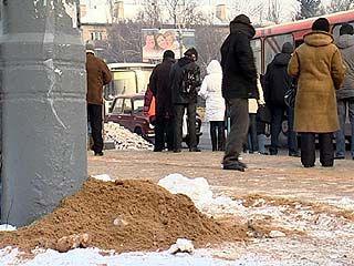 Про скользкие дороги и тротуары в Воронеже вспомнили только к концу января