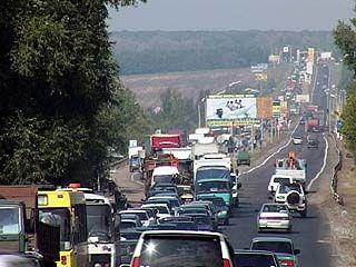 Пробка длиной в семь километров образовалась на Курской трассе