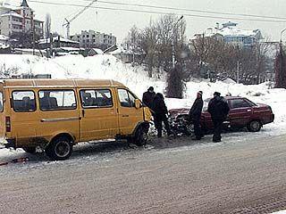Произошла очередная авария с участием маршрутки