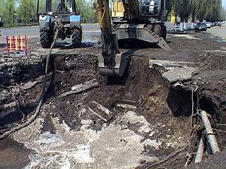 Прорыв водопровода оставил без воды 40 домов