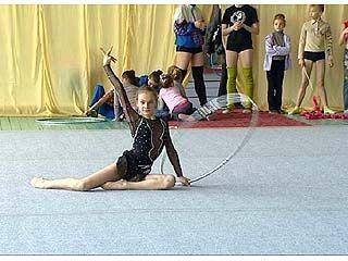 Прошел открытый чемпионат области по художественной гимнастике