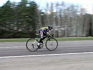 Прошли первые соревнования велосипедистов