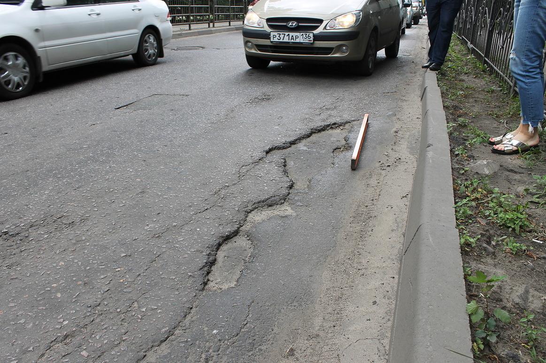 Общественники раскритиковали ремонт дорог в Воронеже