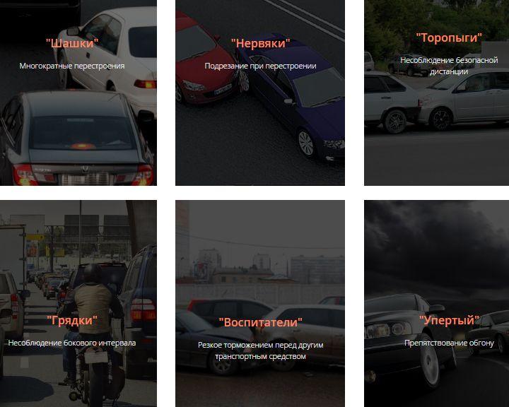 ВИДЕО: Опубликованы официальные кадры всех примеров опасного вождения