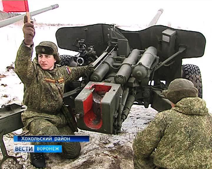 Артиллеристы ЗВО провели репетицию салюта в честь Дня защитника Отечества