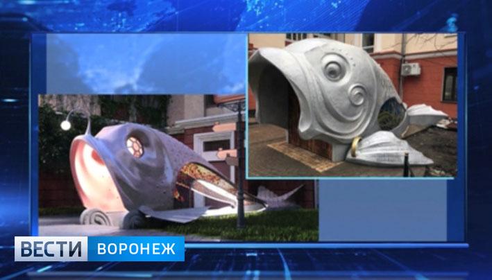 Владельцы алюминиевой рыбы на Карла Маркса не успели в срок переделать конструкцию