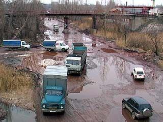 Ремонт дороги на месте реки Песчанка требует огромных средств
