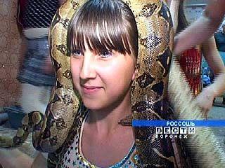Россошанские девчонки танцуют со змеями