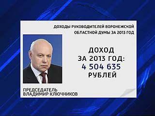 Руководители областной Думы отчитались о доходах