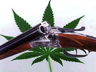 Ружье и наркотики пытались провести в объезд поста ГАИ