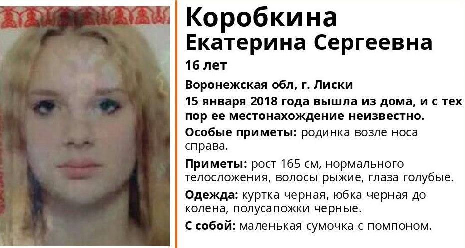 В Воронежской области пропала без вести 16-летняя девушка