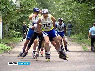 Седьмые соревнования лыжероллеров прошли в Воронеже на 9 километре