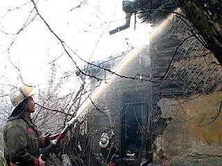 Сгорел частный дом