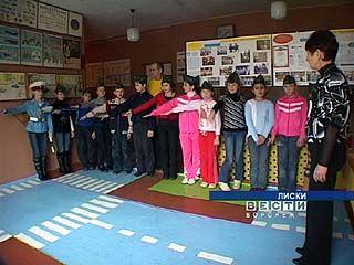 Школьники Лискинского района сдавали экзамены на знание ПДД