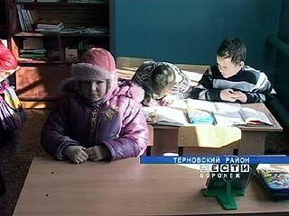 Школьники в селе Козловка на уроки одеваются потеплее