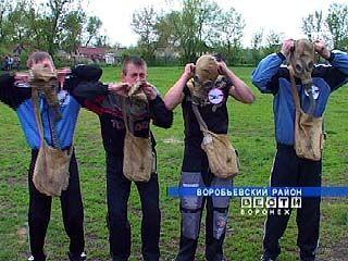 Школьники Воробьевского района прошли досрочную армейскую подготовку