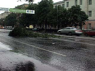 Сильнейший ливень обрушился на Воронеж