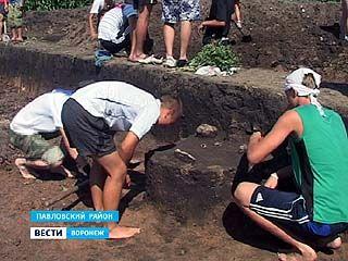 Слёт юных археологов завершился в окрестностях села Лосево Павловского района