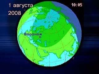 Солнечное затмение в Воронеже: фаза 0,5