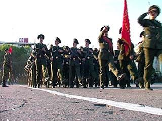 Состоялась репетиция парада в честь Дня Победы