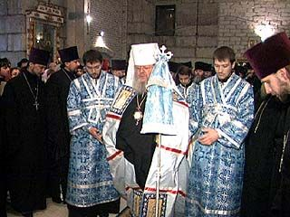 Состоялось первое богослужение в Благовещенском соборе Воронежа