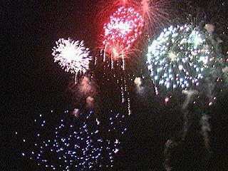 Сотни воронежцев встретили Новый год на улице
