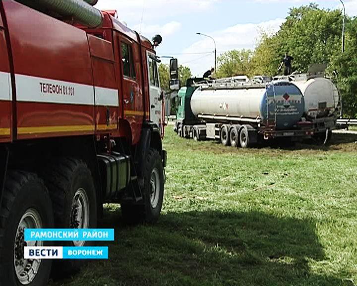 Сотрудники МЧС вывезут с места аварии оставшиеся в цистерне 16 тонн стирола