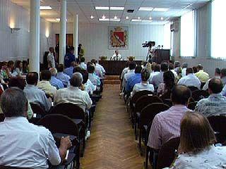 Совещание в администрации Воронежа было неожиданно прервано