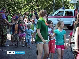 """Спасатели и лесники провели тренировочную эвакуацию в лагере """"Алмаз"""""""