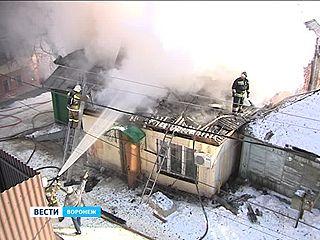 Спасатели с трудом отстояли частный сектор в центре Воронежа