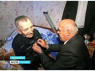 """Старейший житель Воробьёвки получил медаль """"За победу над Германией"""""""
