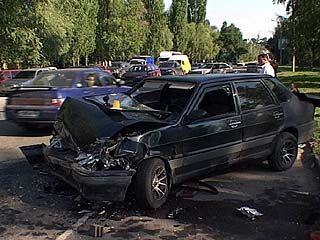 Столкнулись четыре машины