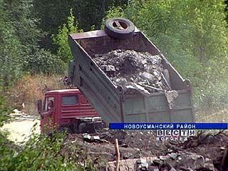Строительный мусор с пепелищ попадает прямиком в лес