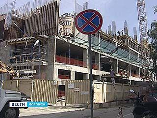 Строительство двух высотных отелей в центре Воронежа может быть заморожено